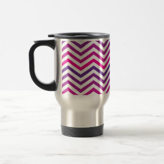 Pink Purple Zigzag Chevrons Travel Mug