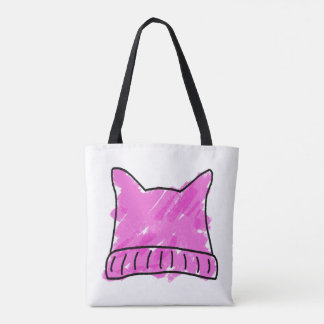 Pink Pussy Hat Doodle Art Tote