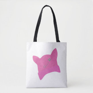 Pink Pussy Knit Hat Tote Bag