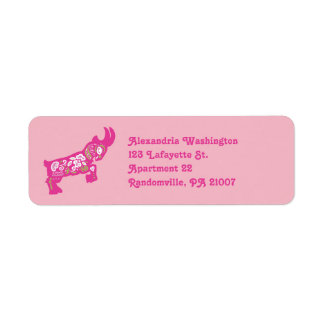 PInk Pygmy Goat Return Address Labels