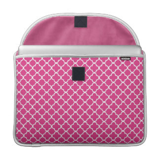Pink Quatrefoil Clover Pattern Sleeve For MacBooks