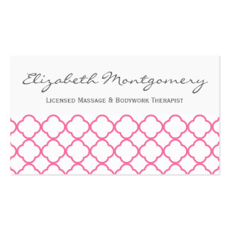 Pink Quatrefoil Modern Appointment Business Crd Pack Of Standard Business Cards