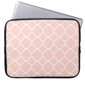 Pink Quatrefoil Moroccan Print Laptop Sleeve