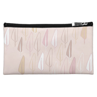 Pink quill feathers to writer feminine elegant bag cosmetic bag