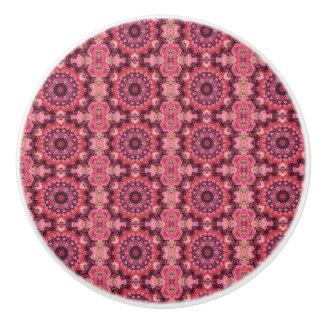 Pink Quilt Ceramic Knob