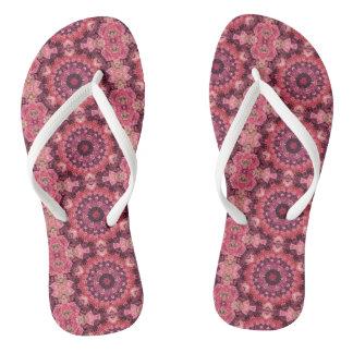 Pink Quilt Flip Flops