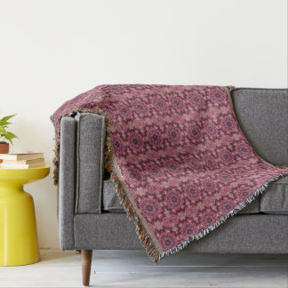 Pink Quilt Throw Blanket