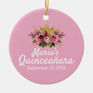 Pink Quinceañera Keepsake Ornament