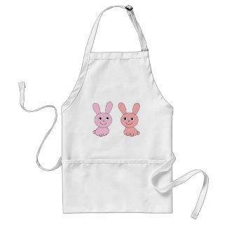 pink rabbit apron