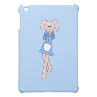 Pink Rabbit Carrying a Cupcake. iPad Mini Cases