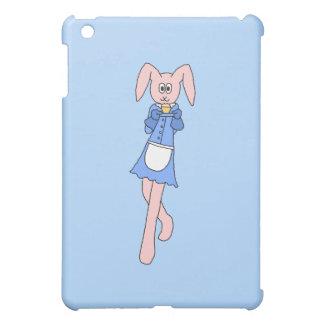 Pink Rabbit Carrying a Cupcake. iPad Mini Cases