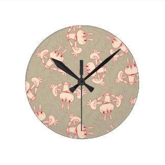 pink rabbit clock