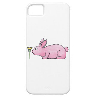Pink Rabbit with Flower. iPhone 5 Cover