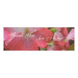 Pink Rain Pack Of Skinny Business Cards