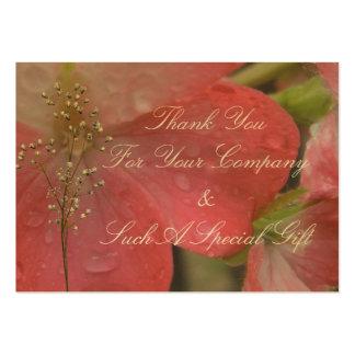 Pink Rain Business Card Template