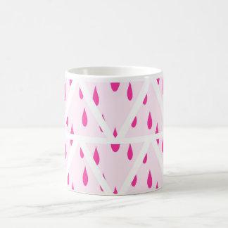 Pink rain drops mug