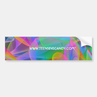 Pink Rainbow Abstract Bumper Sticker