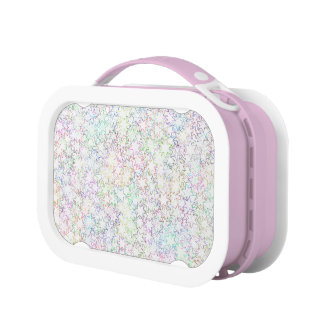 Pink Rainbow and White Star Cluster Kawaii Girl Lunch Box