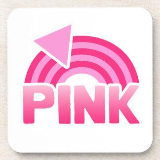 PINK RAINBOW FLAG BEVERAGE COASTERS