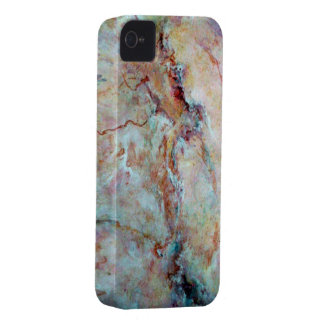 Pink rainbow marble stone finish iPhone 4 covers
