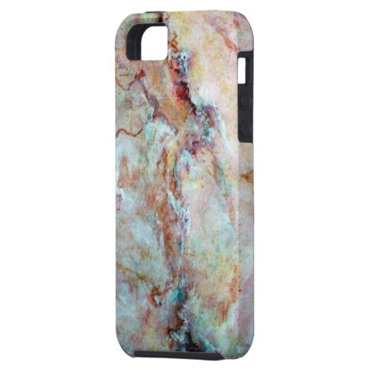 Pink rainbow marble stone finish case for the