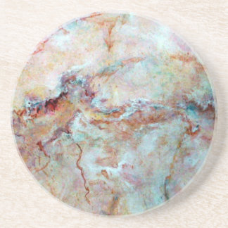 Pink rainbow marble stone finish coaster