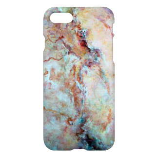 Pink Rainbow Marble Stone Finish iPhone 7 Case