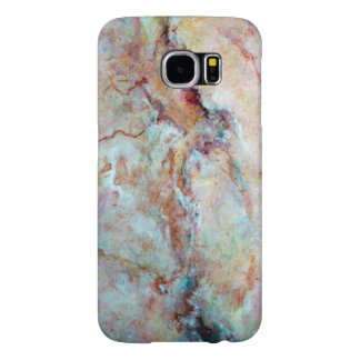 Pink rainbow marble stone finish samsung galaxy s6 cases