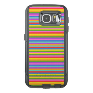 Pink Rainbow Striped Cell Phone Case