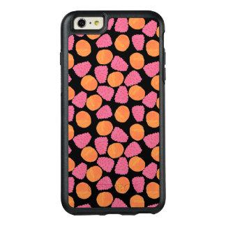 Pink Raspberries and Orange Tangerines on  Black OtterBox iPhone 6/6s Plus Case