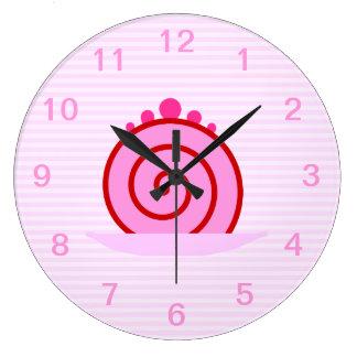 Pink Raspberry Cake. Large Clock