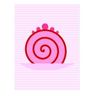 Pink Raspberry Cake. Postcard