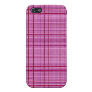 Pink/Raspberry Plaid Case iPhone 5/5S Cover