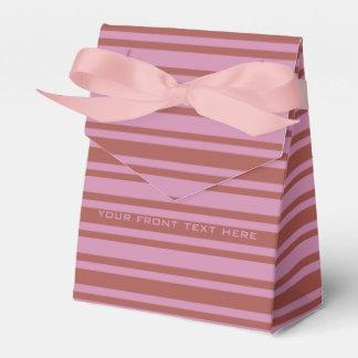 Pink / Raspberry Stripes custom favor box