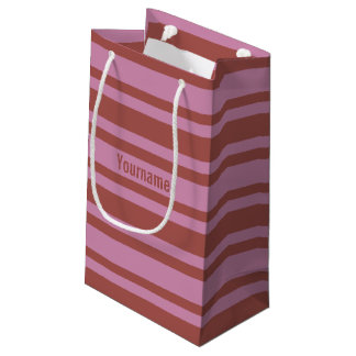 Pink / Raspberry Stripes custom gift bag