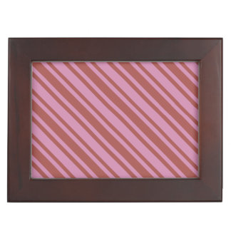 Pink / Raspberry Stripes custom keepsake box