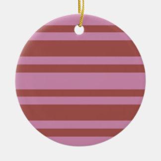 Pink / Raspberry Stripes custom ornament