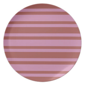Pink / Raspberry Stripes custom plate