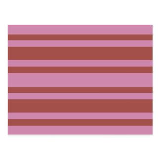 Pink / Raspberry Stripes custom postcard