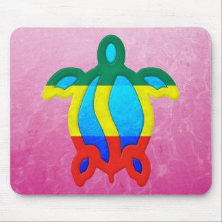 Pink Rasta Honu Mouse Pad