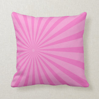 Pink Rays Geometric Pillows