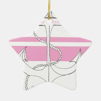 pink rear admiral, tony fernandes ceramic star decoration