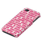 Pink Rectangle Mosaic iPhone 4/4S Case