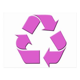 Pink Recycle Symbol Postcard