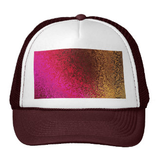 Pink Red And Gold Pattern Cap