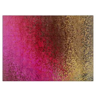 Pink Red And gold Pattern Cutting Board