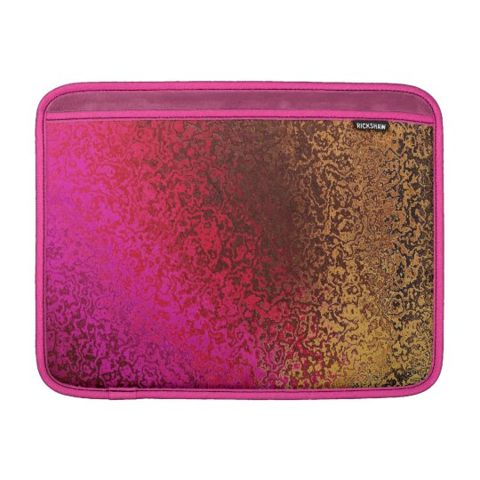 Pink Red And Gold Pattern MacBook Sleeve