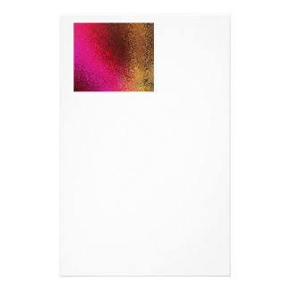 Pink Red And Gold Pattern Personalized Stationery