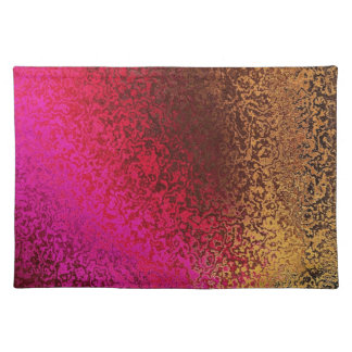Pink Red And gold Pattern Placemat