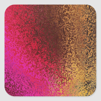 Pink Red And Gold Pattern Stickers